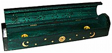 Green Wood Coffin Incense Burner
