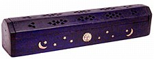 Violet Wood Coffin Incense Burner
