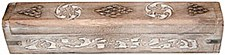 White Wood Coffin Incense Burner