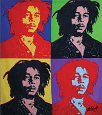 Bob Marley Fleece Warhol Blanket