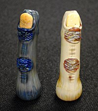 "4"" Long Zombie Finger Hand Blown Glass Chillum"