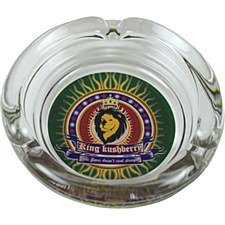 "4"" Glass King Kushberry Ashtray"