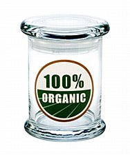 420 Science Pop Top Medium Stash Jar 100% Organic