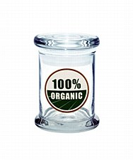 420 Science Pop Top Stash Jar Small 100% Organic