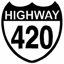 Highway 420 Sticker