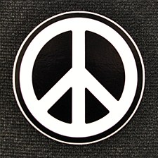 "3"" Peace Sign Sticker"