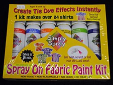 Spray on Fabric Paint Kit