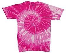 Tie Dye Pink Spiral T-Shirt Medium