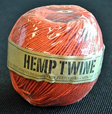 20lb Test Orange Hemp Twine