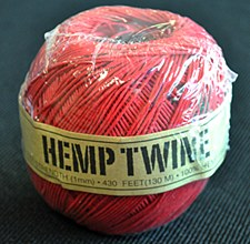 20lb Test Red Hemp Twine