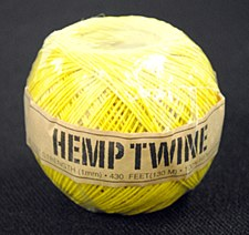 20lb Test Yellow Hemp Twine