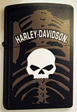 Harley Davidson Skull and Bones Zippo Lighter