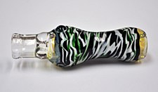 Tiger Striped Chillum Pipe