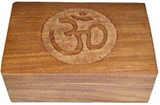 Om Symbol Carved Box