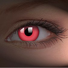 Glow Red Contact Lens