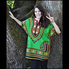 Dashiki Unisex Top Green