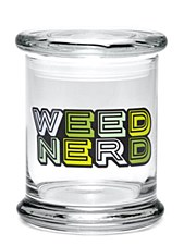 420 Science Pop Top Large Jar Weed Nerd