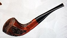 Burnt Wood Style Calabash Pipe