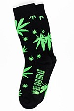 Puf Marijuana Leaf Print Socks