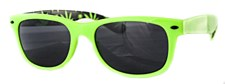 Cryptic Neon Leaf Sunglasses
