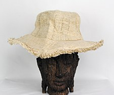 Natural Hemp Hat with Brim
