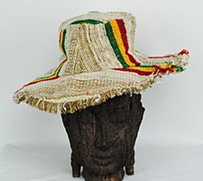 Rasta Hemp Hat with Brim