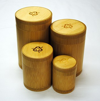 Small WoodStalk  Bamboo Container