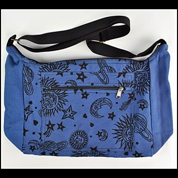 Sun Moon Print Messenger Bag