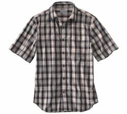Men's Essential Plaid Open Collar Short-Sleeve Shirt