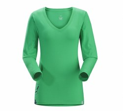 Women's Maple V-Neck Long-Sleeve T-Shirt