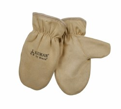 Kid's Tan Full Grain Leather Mitt w/ Heatkeep Thermal Insulation