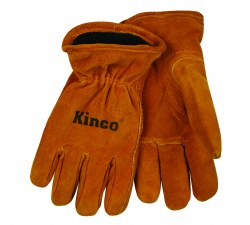 Kid's Golden Full Suede Cowhide Glove w/ Heatkeep Thermal Insulation