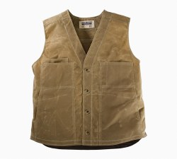 The Waxed Button Vest