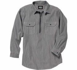 Men's Long-Sleeve Button Front Hickory Stripe Logger Shirt