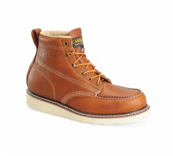 Men's 6-inch Domestic Moc Toe Wedge Steel Toe Work Boot
