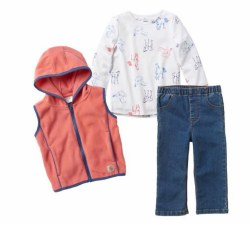 Girl's 3 Piece Vest Set