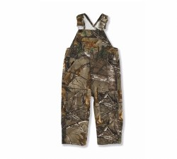 Boys' Infant/Toddler Washed Realtree Xtra Bib Overalls