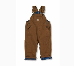 Boy's Canvas Overall Flannel Lined
