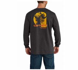 Men's Workwear Graphic Time 2 Earn That Buck Long Sleeve TShirt