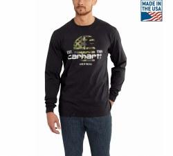 Men's Lubbock Graphic Filled Flag Long Sleeve TShirt