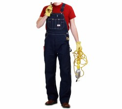 Men's Made in USA Button Fly Bib Overalls