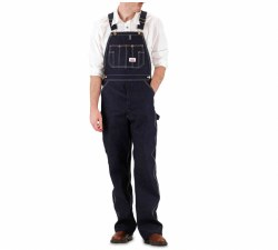 Men's Made in USA Zipper Fly Bib Overalls