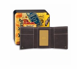 Trifold Wallet-Milled Pebble with Collectible Tin