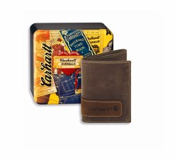 Two-Tone Trifold Wallet with Collectible Tin
