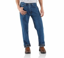 Men's Relaxed Fit Jean-Straight Leg/Flannel Lined