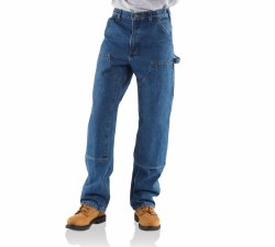 Men's Loose/Original-Fit Double Front Washed Logger Dungaree