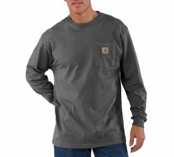 Men's Long-Sleeve Workwear Pocket T-Shirt