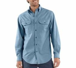 Men's Long-Sleeve Chambray Shirt