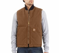 Men's Sandstone Vest/Arctic Quilt Lined