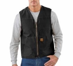 Men's Sandstone Rugged Vest/Sherpa Lined